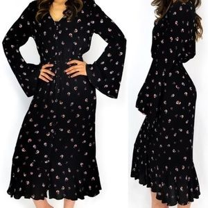 EVERLY✨Boho Floral Midi Dress sz L
